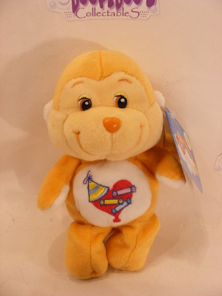 "BNWT 8"" 20TH ANNI PLAYFUL HEART MONKEY CARE BEARS"
